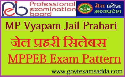 MP Vyapam Jail Prahari Syllabus 2018