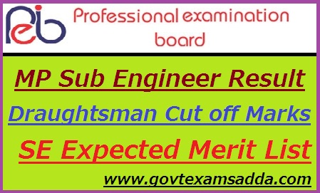 Mp Vyapam Sub Engineer Result 2017 Mppeb Sub Engineer