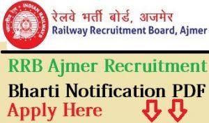 RRB Ajmer Recruitment 2017-18