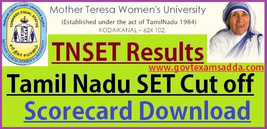 TN SET Exam Result 2019, Tamil Nadu SET Score Card/ Cutoff Marks