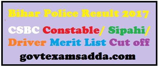 Bihar Police Result