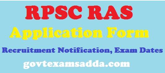 RPSC RAS Application Form