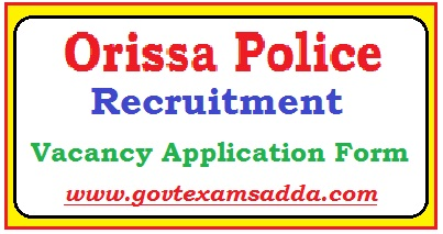 Orissa Police Recruitment