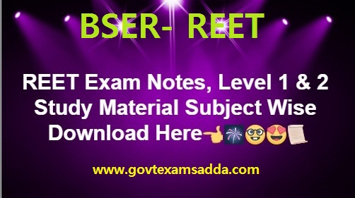 REET Exam Notes 2020-21