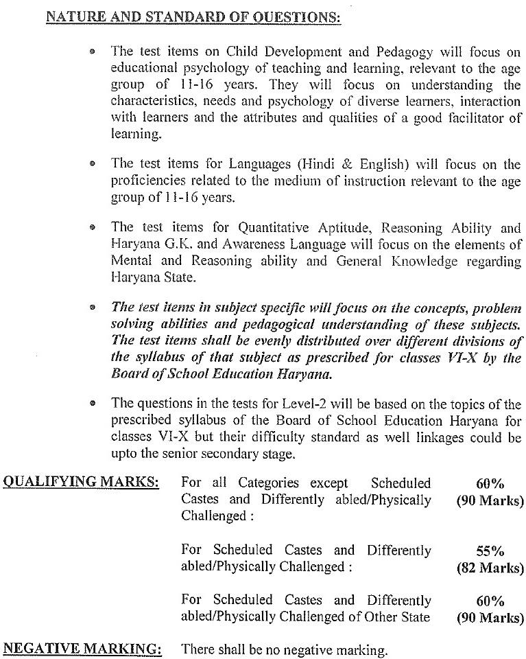 haryana tet syllabus