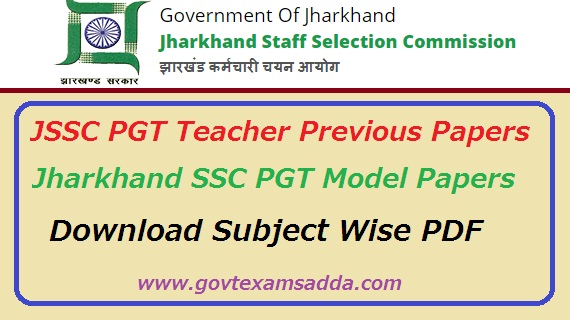 JSSC PGT Teacher Previous Papers Download