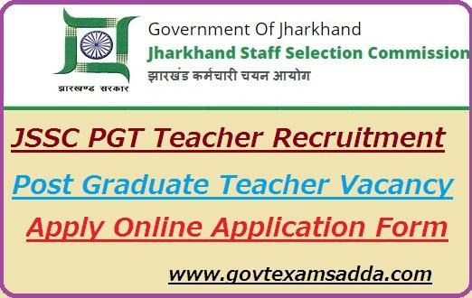 Jharkhand SSC PGT Recruitment 2019