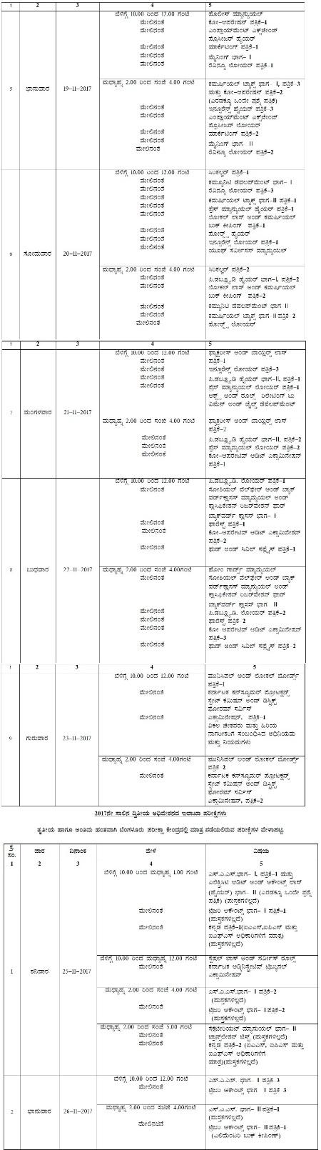 karnataka psc exam date