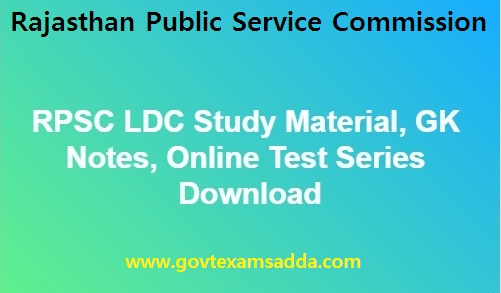 rsmssb rpsc ldc study material gk notes online tests in hindi