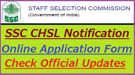SSC CHSL Notification 2018-19