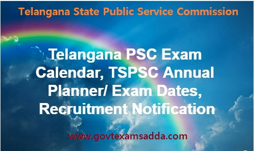TSPSC Exam Calendar 2018-19