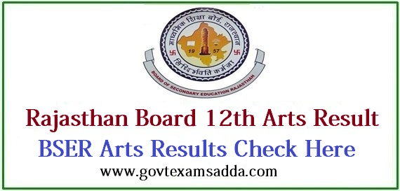 Rajasthan Board 12th Arts Result 2019, RBSE Class 12th Arts Result