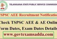 TSPSC AEE Online Form 2021