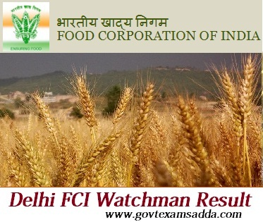 FCI Delhi Watchman Admit Card 2018