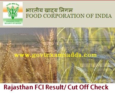 Rajasthan FCI Result 2019