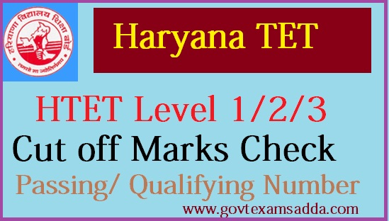 HTET Cut off Marks 2018