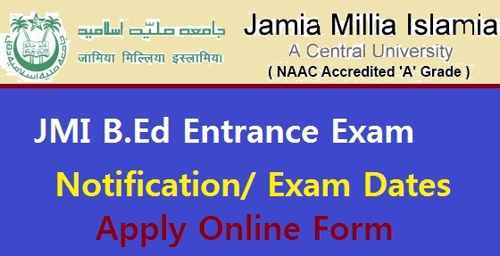 JMI B.Ed Entrance Exam 2018