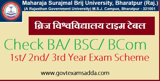Brij University Time Table 2018