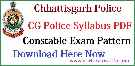 CG Police Syllabus 2018