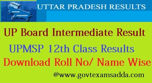 UP Board Intermediate Result 2018