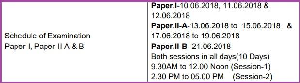 aptet 2018 exam date