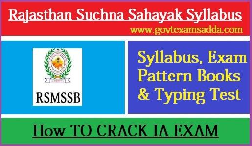 RSMSSB IA Syllabus 2020