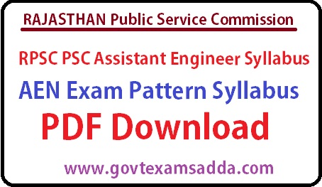 RPSC Assistant Engineer Syllabus pdf