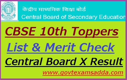 CBSE 10th Toppers list 2019