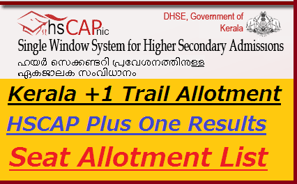Kerala +1 Trail Allotment 2020