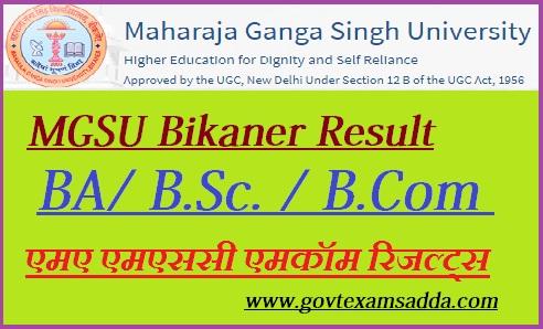 MGSU Result 2019