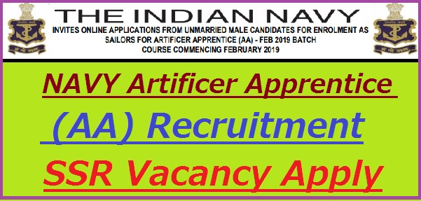 Indian Navy AA Recruitment 2019