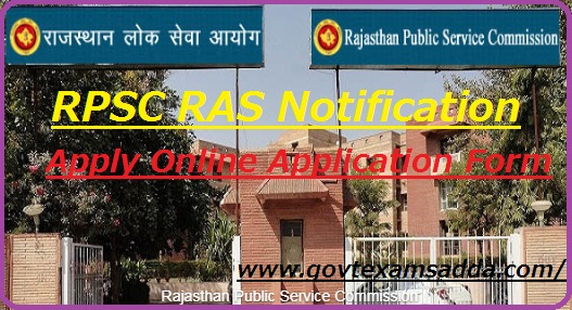 RPSC RAS Application Form 2018