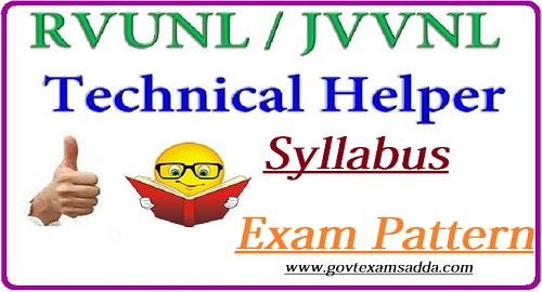 JVVNL Technical Helper Syllabus 2018