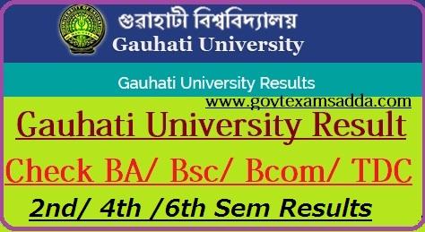 Gauhati University Result 2018