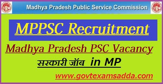 MPPSC Recruitment 2019