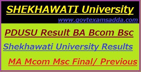 Shekhawati University Result 2018
