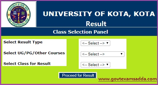 UOK Result 2019 BA BSc BCom 1st/2nd/3rd Year Results Name Wise