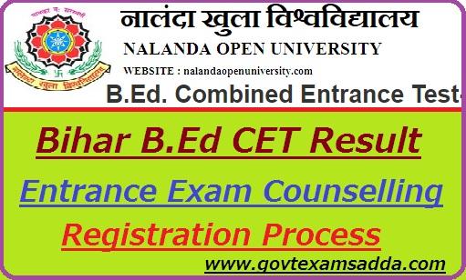 Bihar B.Ed CET Result 2018