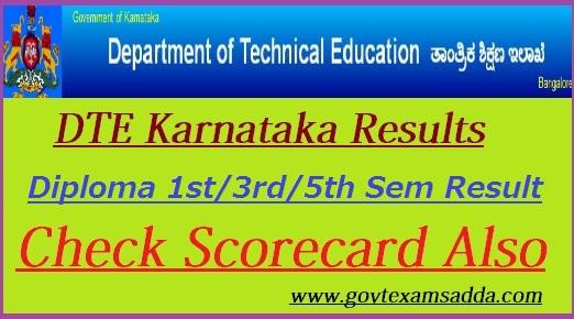 DTE Karnataka Result 2018