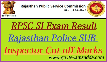 RPSC SI Result 2018-19