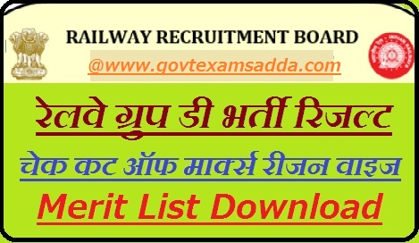RRB Group D Result 2018
