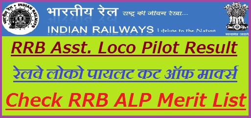 Railway Assistant Loco Pilot Result 2019