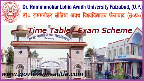 RMLAU Avadh University Time Table 2019
