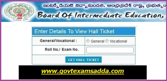 AP Board Intermediate Hall Ticket 2019