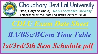 CDLU Date Sheet 2018-19