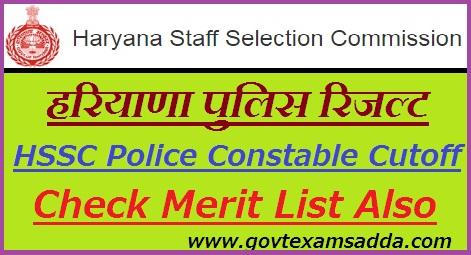 Haryana Police Result 2019