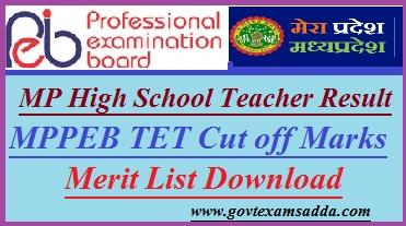MPPEB High School Teacher Result 2018-19