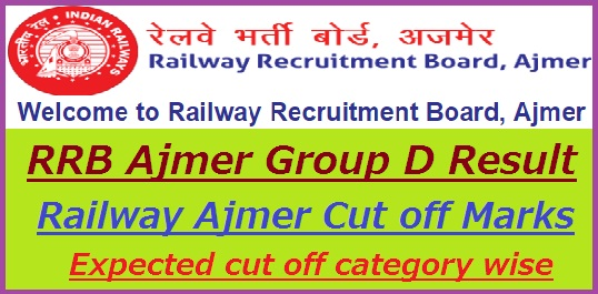 RRB Ajmer Group D Result 2019