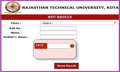 RTU Main Back Result 2018-19