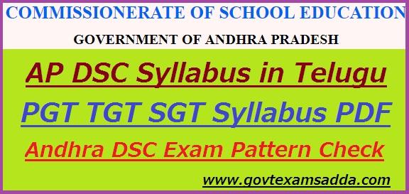 AP DSC Syllabus 2018